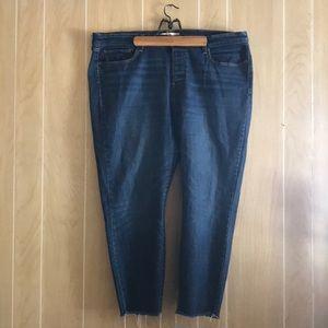 Levi's Wedgie Skinny 22W Raw Hem High Waist Jeans